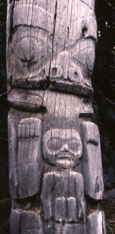 Ninstiints Totem, Queen Charlotte Islands -- Photo rights Graytech