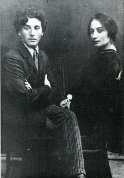 photo of Marc and Bella Chagall, black-and-white.