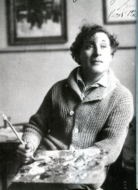 Marc Chagall with Palette: Chagall lived near Roussillon