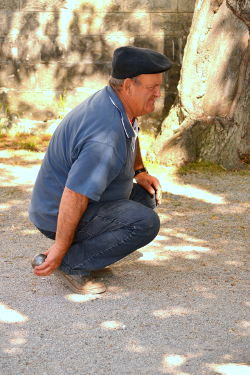 Boules, or Petanque, is the popular game played by men of Provence: Photo Copyright Marcia M. Mueller