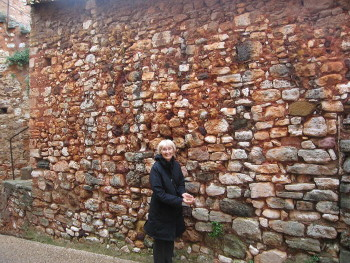Even  a wall is interesting to Susan Vreeland in Roussillon.