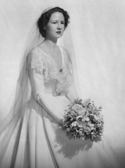 Jean in her Wedding Dress.